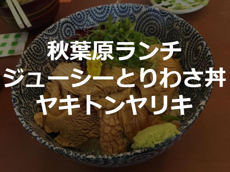 【秋葉原ランチ】つい、わさわさしてしまうほど美味いヤキトン ヤリキ【とりわさ丼】